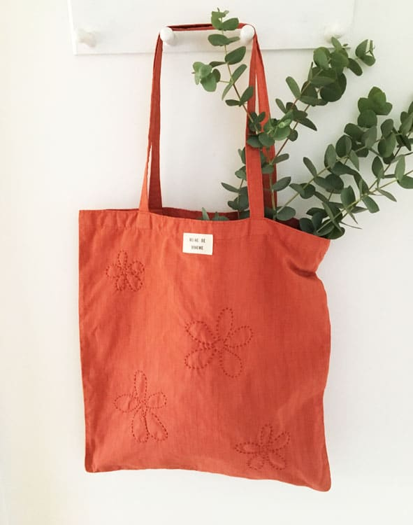 Tote bag éthique en coton/lin recyclé made in France