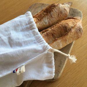 Sac à pain zéro déchet lucien made in France atelier Reine de Bohème