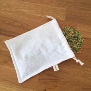 petit sac textile ecologique pour courses vrac et zero dechet