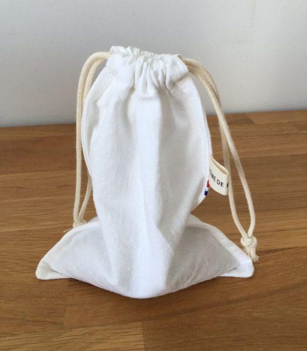 sac textile ecologique a cordon pour courses en vrac