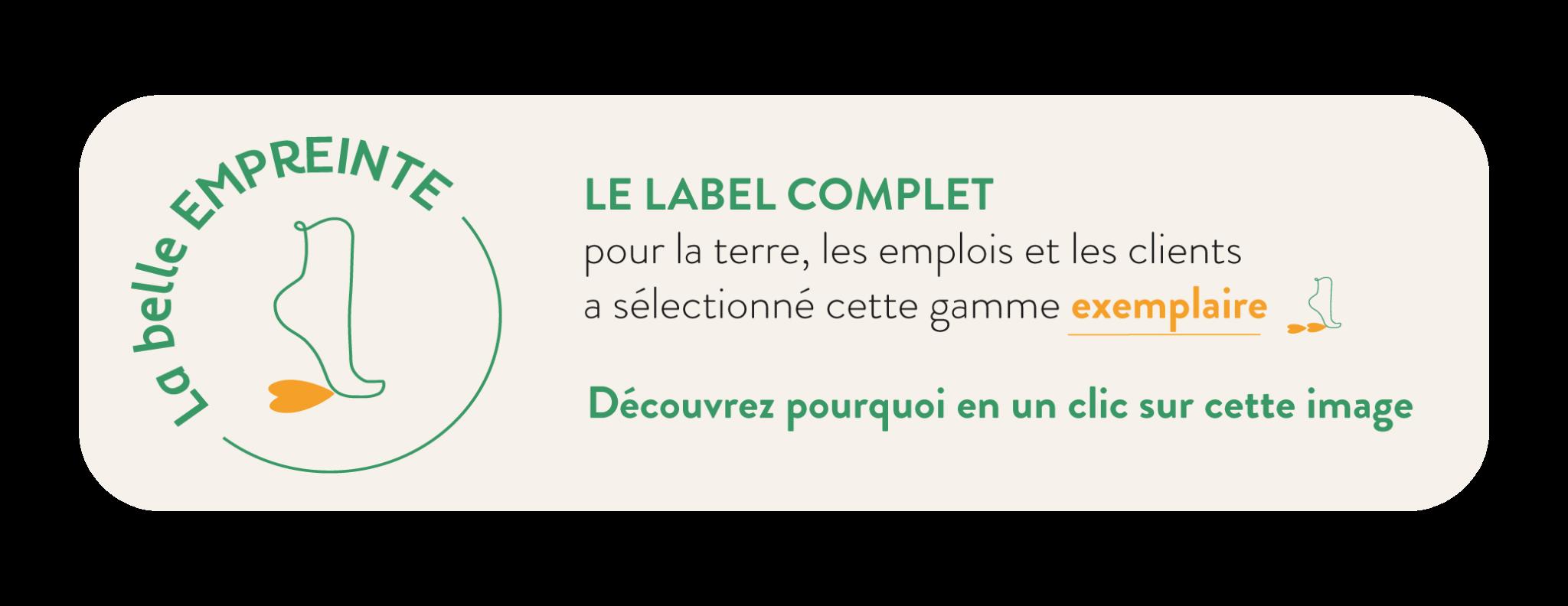 Label La Belle Empreinte, le label complet pour la terre, les emplois et les clients