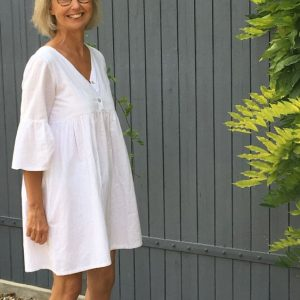 Robe made in France en voile de coton blanc Oekotex fabrication artisanale