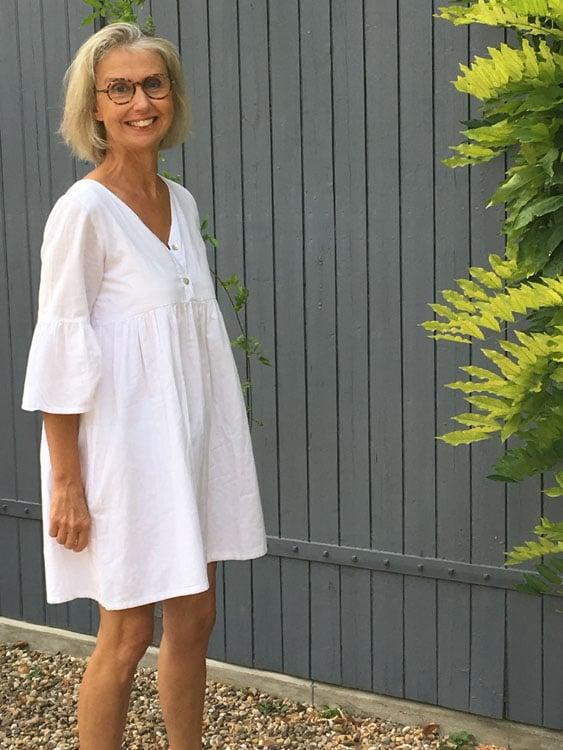 Robe made in France en voile de coton blanc Oekotex fabrication artisanale