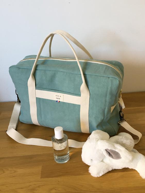 sac à langer en coton/lin recyclé made in France